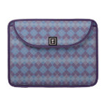 Argyle Diamond Plaid Pattern in Blue and Purple Sleeve For MacBooks