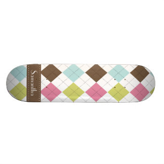 Argyle Diamond Stitch Comp Skateboard