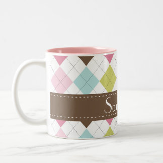 Argyle Diamond Stitch Sweater Coffee Mug Cup