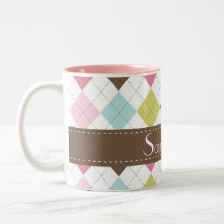 Argyle Diamond Stitch Sweater Coffee Mug Cup