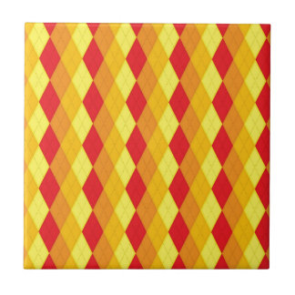 Argyle Fire (Red, Yellow & Orange Diamonds) Tile