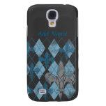 Argyle Fleur de lis Custom Samsung Galaxy S4 Case