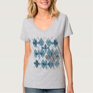 Argyle Fleur de lis Women's T-Shirt