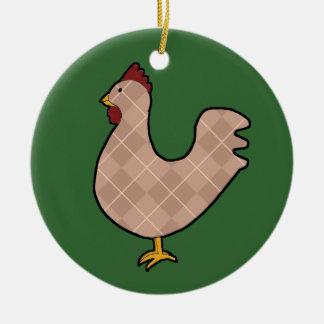 Argyle Folk Art Rooster Ornament