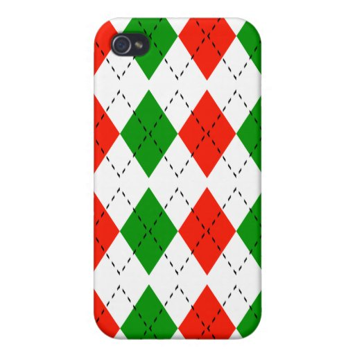 Argyle For Christmas iPhone 4 Case