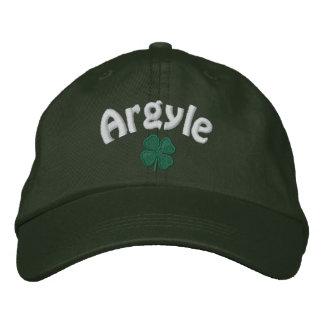 Argyle - Four Leaf Clover - Customized Embroidered Baseball Cap