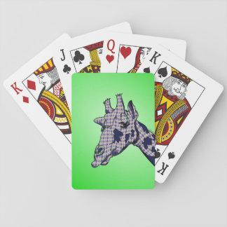 Argyle Giraffe Playing Cards