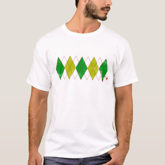 argyle green yellow T-Shirt
