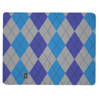 Argyle gris y azul cuaderno