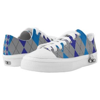 Argyle gris y azul zapatillas