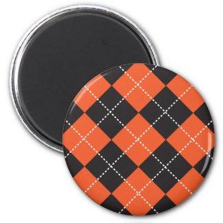Argyle Halloween Magnet magnet