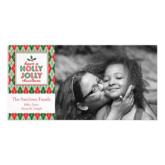 Argyle Have A Holly Jolly Christmas Photo Card