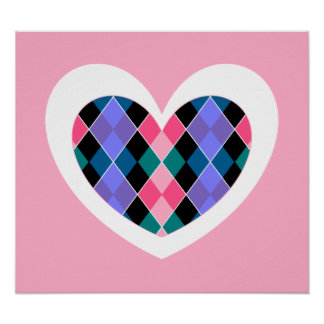 Argyle heart poster