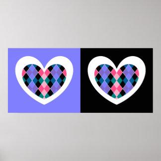 Argyle hearts poster
