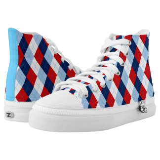 Argyle High-Top Sneakers