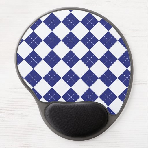 Argyle in Blues Gel Mouse Pads