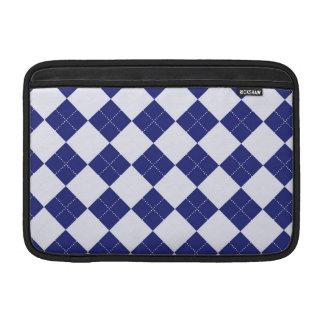 Argyle in Blues MacBook Air Sleeves