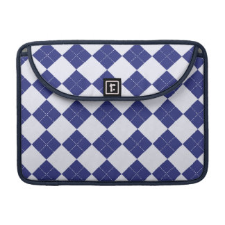 Argyle in Blues Sleeve For MacBook Pro