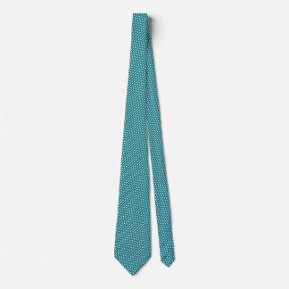 ARGYLE in Teal Blue & White (pattern design) ~~~ Neck Tie
