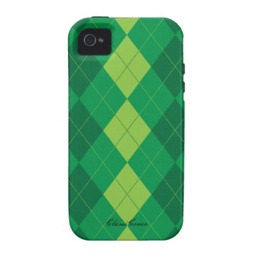 Argyle Irish Green Pattern Case Mate Case For The iPhone 4