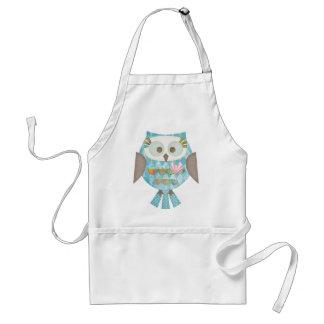 Argyle Love Owl Adult Apron
