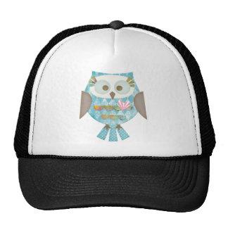 Argyle Love Owl Trucker Hats