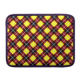 Argyle marrón amarillo blanco y negro funda  MacBook