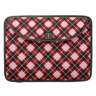 Argyle marrón rosado blanco y negro fundas para macbook pro