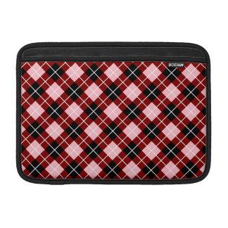 Argyle marrón rosado blanco y negro fundas MacBook