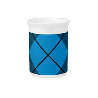 Argyle medio y azul marino jarras para bebida