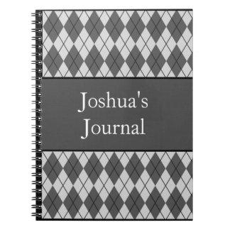 Argyle modeló el cuaderno - gris