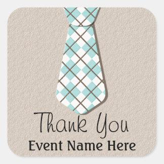 Argyle Necktie Thank You Favor Stickers Labels