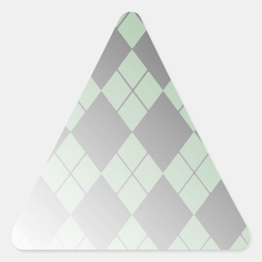 Argyle negro calcomanía de trianguladas