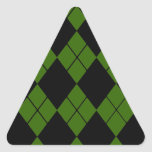 Argyle negro calcomanías trianguloes