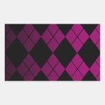 Argyle negro rectangular pegatinas