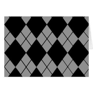 Argyle negro tarjeta pequeña