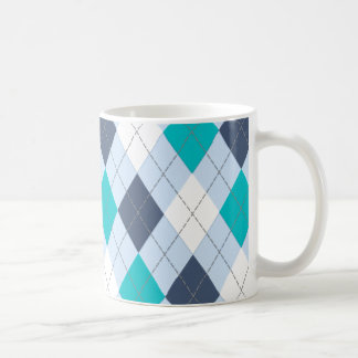 """Argyle: Nombre de código taza """"azul"""" ecléctica"""