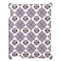 Argyle owl violet pattern iPad cover