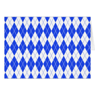 Argyle Pattern 1 Blue Card