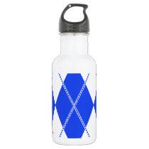 Argyle Pattern 1 Blue Water Bottle