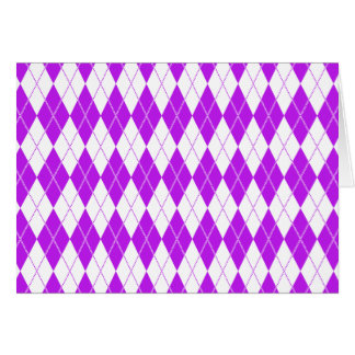 Argyle Pattern 1 Purple Card