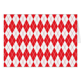 Argyle Pattern 1 Red Card