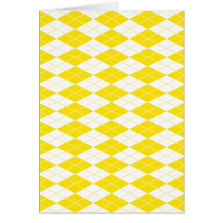 Argyle Pattern 1 Yellow Card