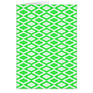 Argyle Pattern 2 Green Card
