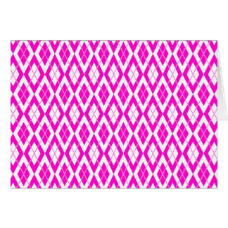 Argyle Pattern 2 Pink Card