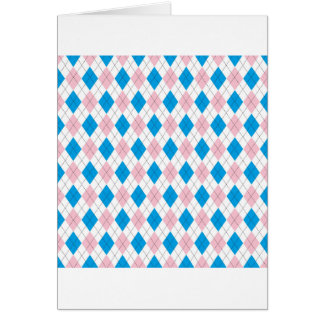 Argyle Pattern Card