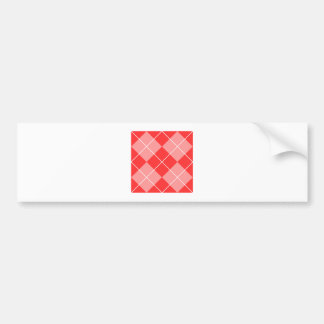 Argyle Pattern Image Bumper Sticker