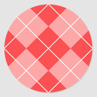 Argyle Pattern Image Classic Round Sticker