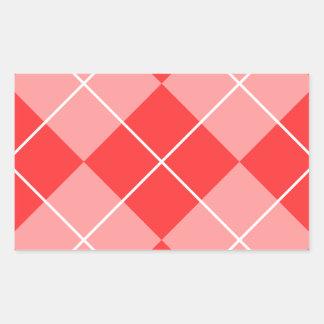 Argyle Pattern Image Rectangular Sticker