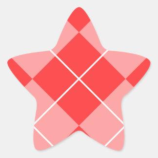 Argyle Pattern Image Star Sticker